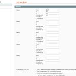 Einstellungen der Textfelder für ein Sliderelement im Magento Bilder Slider